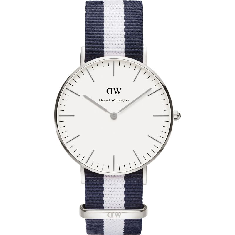Mens Daniel Wellington Glasgow Silver 36mm Watch