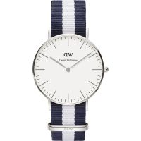 Mens Daniel Wellington Glasgow Silver 36mm Watch