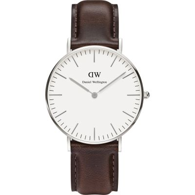 Ladies Daniel Wellington Bristol Silver 36mm Watch DW00100056