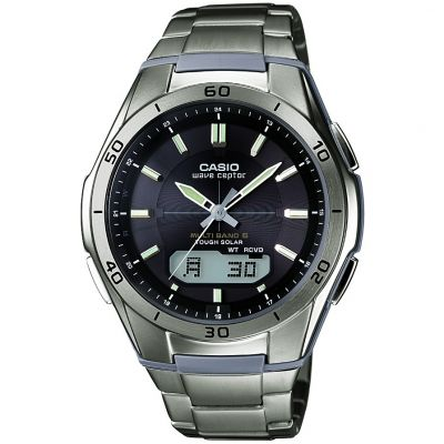 Mens Casio Waveceptor Titanium Alarm Chronograph Radio Controlled Watch WVA-M640TD-1AER