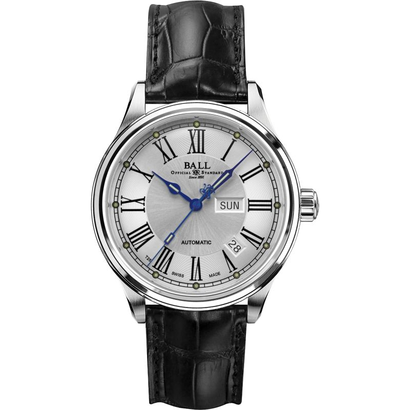 Mens Ball Trainmaster Roman Automatic Watch