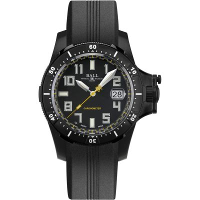 Mens Ball Engineer Hydrocarbon Spacemaster Black DLC Chronometer Automatic Watch DM2176A-P1CAJ-BK