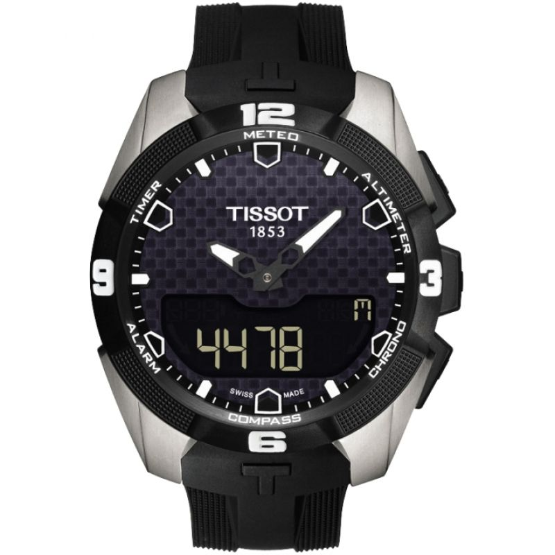 Mens Tissot T-Touch Expert Solar Titanium Alarm Chronograph Solar Powered Watch