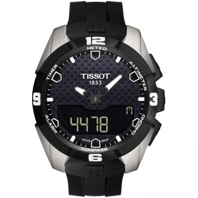 Mens Tissot T-Touch Expert Solar Titanium Alarm Chronograph Solar Powered Watch T0914204705100
