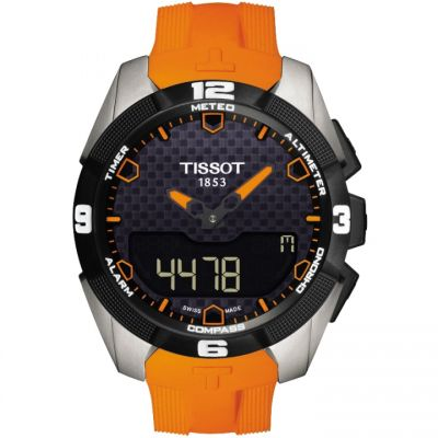 Tissot T-Sport T-Touch Expert Solar Herrenchronograph in Orange T0914204705101