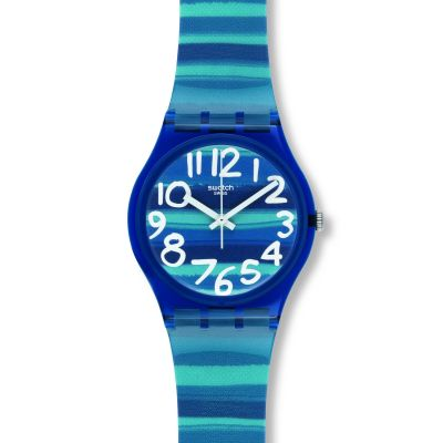Swatch Original Gent Linajola Damenuhr in Blau GN237