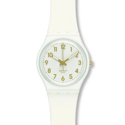 Swatch Original Gent White Bishop Damenuhr in Weiß GW164