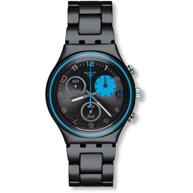 Ladies Swatch Blauerfleck Chronograph Watch