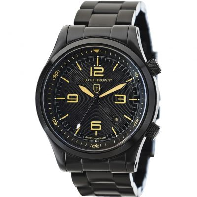 Elliot Brown Canford Herrenuhr in Schwarz 202-002-B04