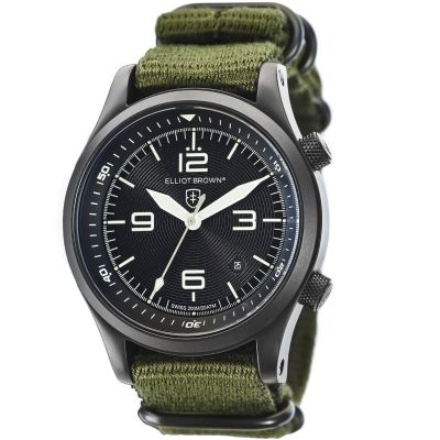 Elliot Brown Canford Herenhorloge Kaki 202-004-N01