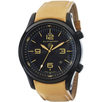 Elliot Brown Canford Herenhorloge Bruin 202-008-L04