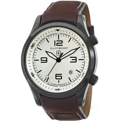 Elliot Brown Canford Herrenuhr in Braun 202-009-L05