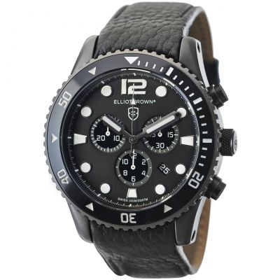 Elliot Brown Bloxworth Herrenchronograph in Schwarz 929-001-L01