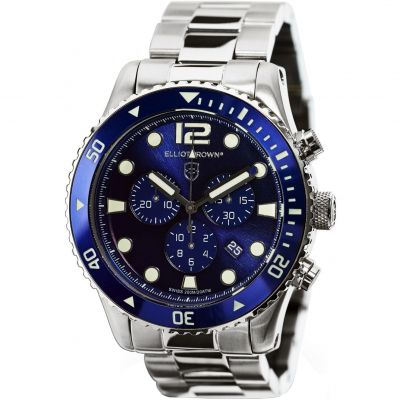 Elliot Brown Bloxworth Herrkronograf Silver 929-003-B01