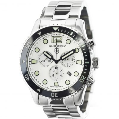 Elliot Brown Bloxworth Herrenchronograph in Silber 929-007-B01
