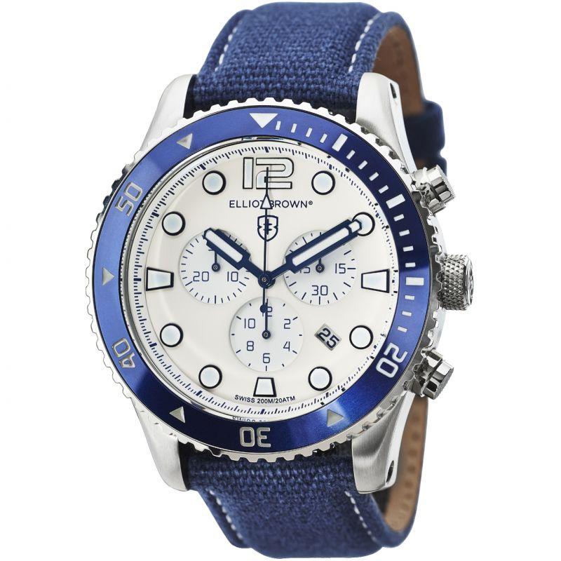 Mens Elliot Brown Bloxworth Chronograph Watch 929-008-C01