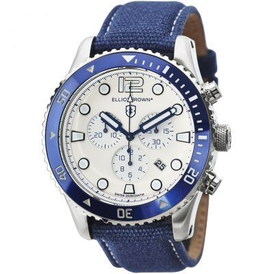 Elliot Brown Bloxworth Herrkronograf Blå 929-008-C01