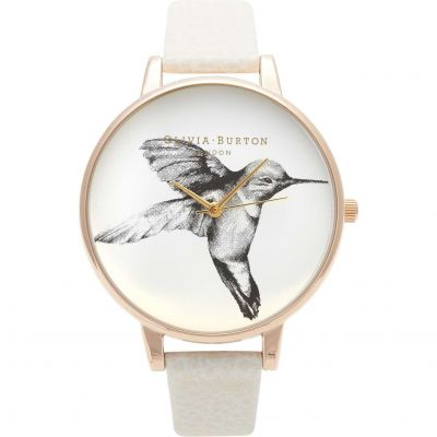 Woodland Animals Hummingbird Rose Gold & Mink Watch