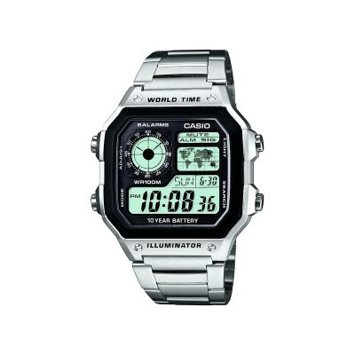 Montre Chronographe Homme Casio World Time AE-1200WHD-1AVEF