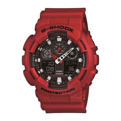 Mens Casio G-Shock Alarm Chronograph Watch GA-100B-4AER