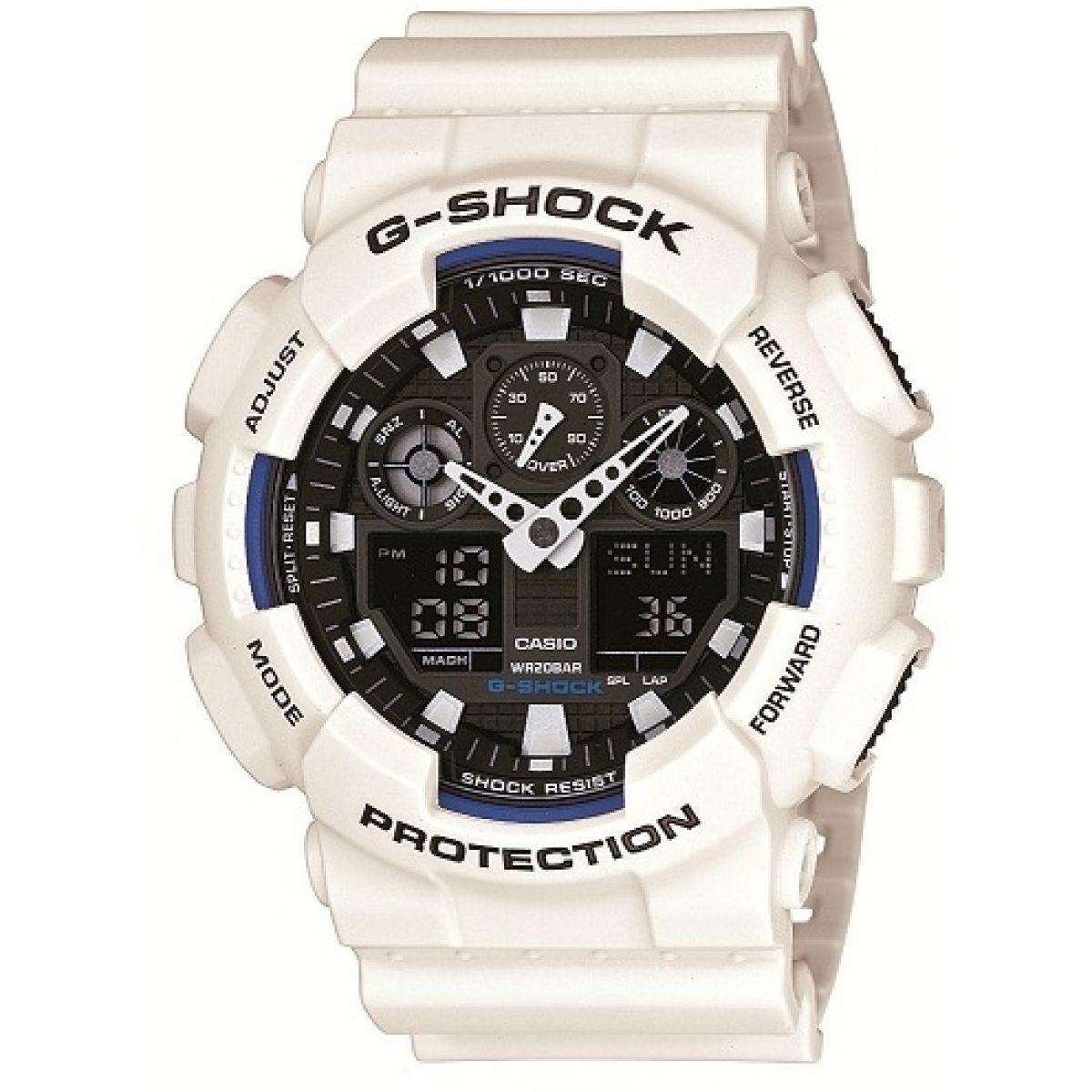 Gents Casio G-Shock Alarm Chronograph Watch (GA-100B-7AER ...