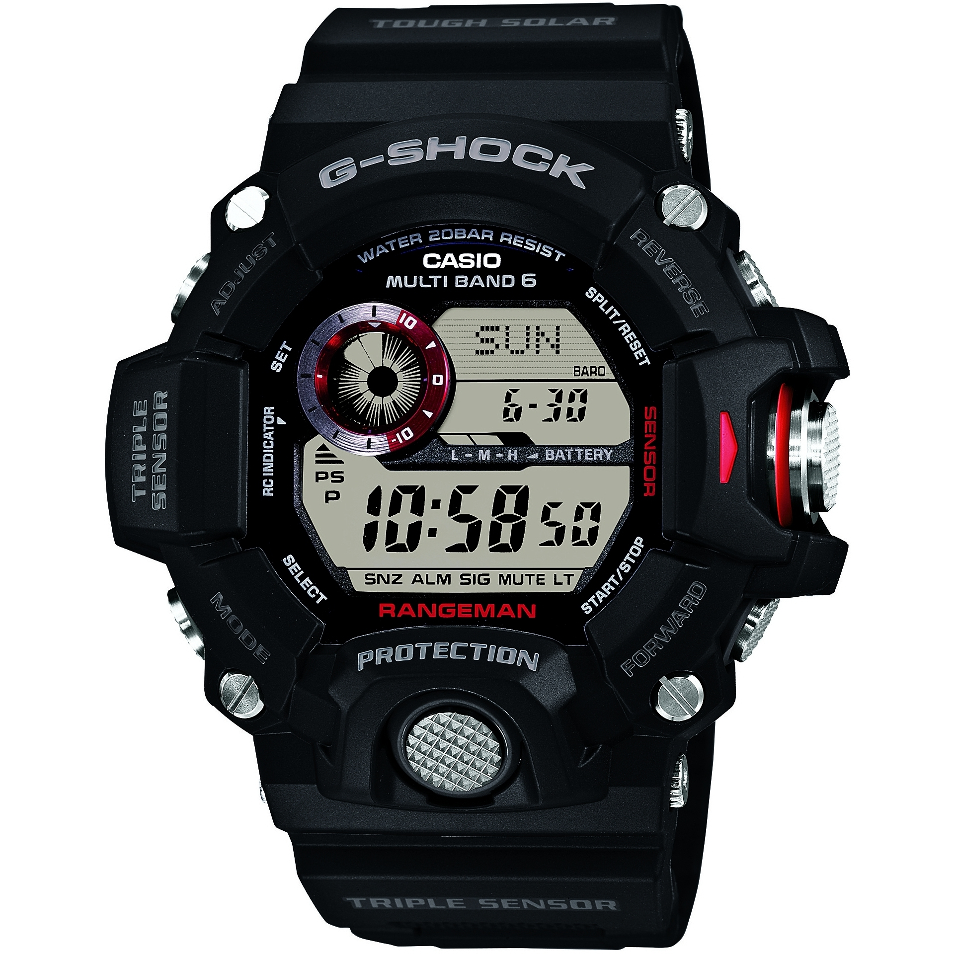 68c94f305fa Gents Casio G-Shock Rangeman Alarm Chronograph Watch (GW-9400-1ER ...