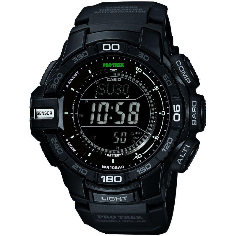 Mens Casio Pro-Trek Alarm Chronograph Solar Powered Watch