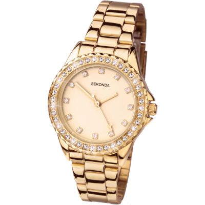 Sekonda Temptations Damenuhr in Gold 4253