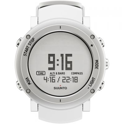 Mens Suunto Core Alu pure white Alarm Chronograph Watch SS018735000