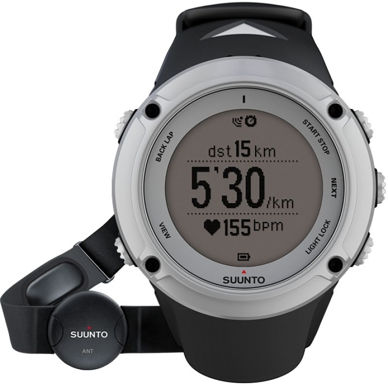 Unisex Suunto Ambit2 HR Bluetooth Silver Alarm Chronograph Watch