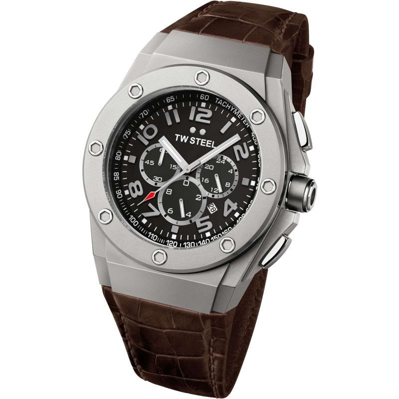 Mens TW Steel CEO Tech 48mm Chronograph 48mm Watch CE4014