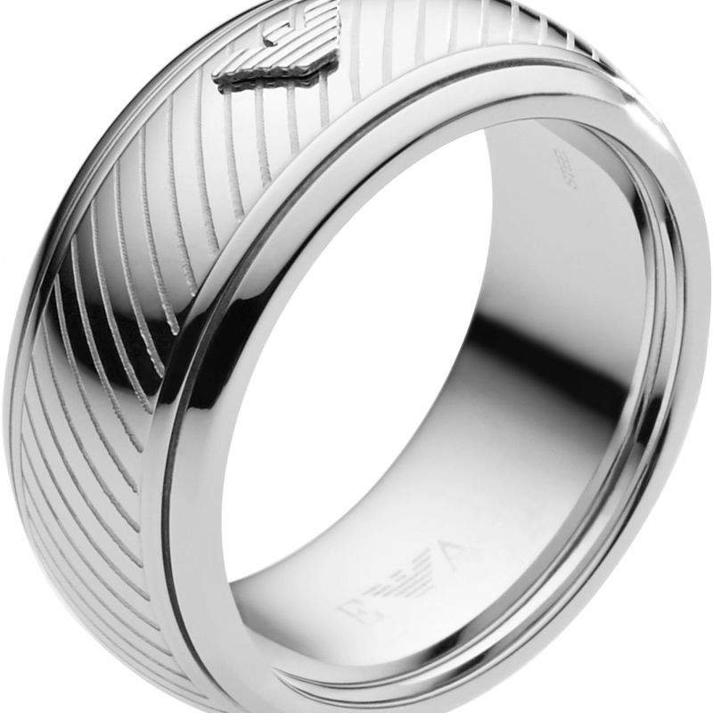 Mens Emporio Armani Stainless Steel Size V Ring EGS1752040514