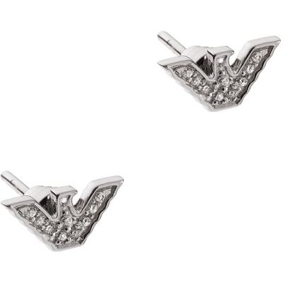 Emporio Armani Sterling Silver Signature Eagle Earrings EG3027040