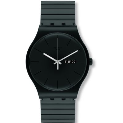 Swatch Originals New Gent Mystery Life L Unisexuhr in Schwarz SUOB708A