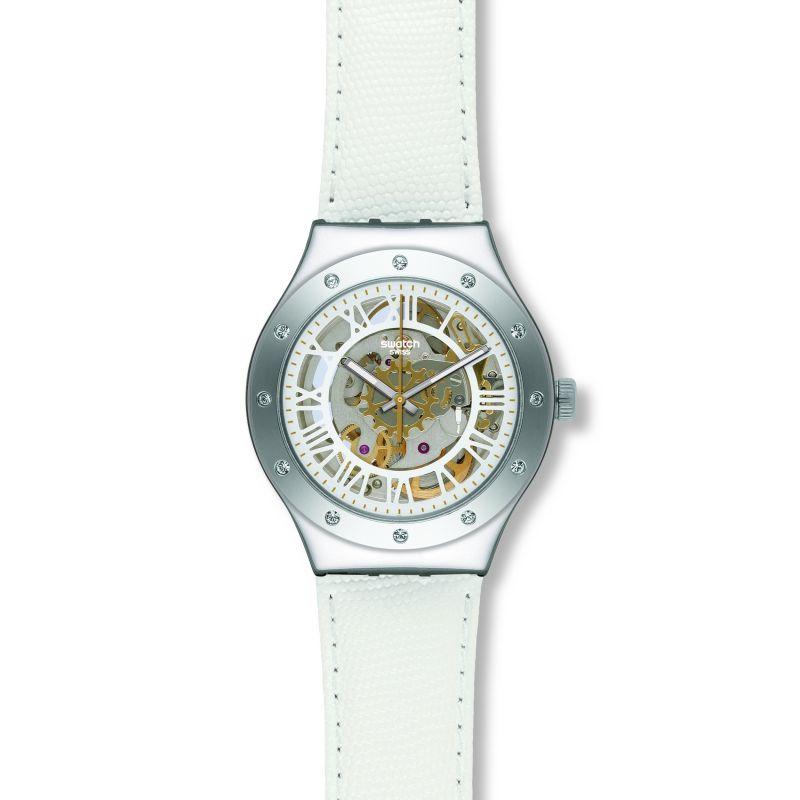 Ladies Swatch Rosetta Bianca Automatic Watch