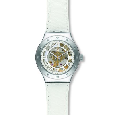 Ladies Swatch Rosetta Bianca Automatic Watch YAS109