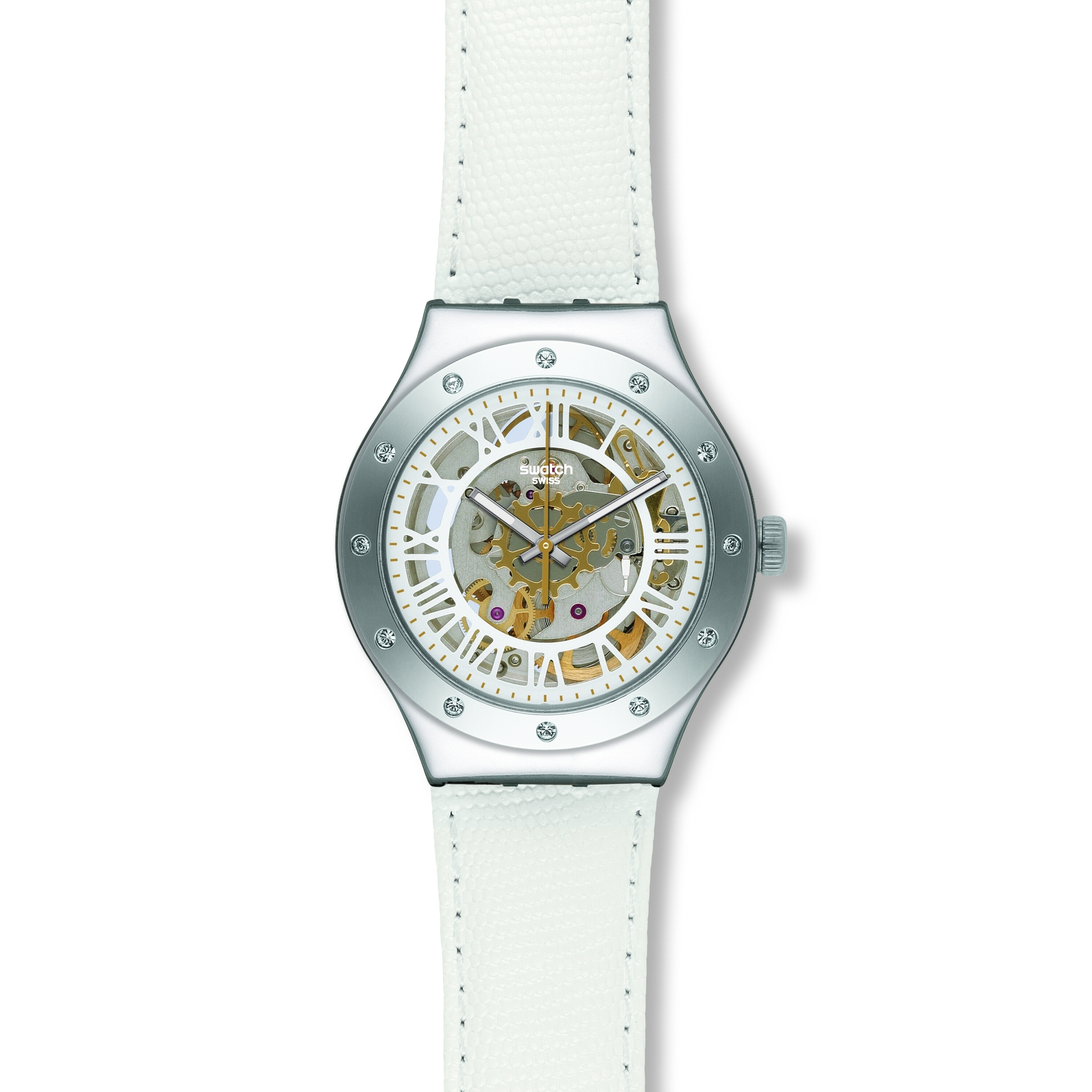 4f79447aee7 Ladies Swatch Rosetta Bianca Watch (YAS109)