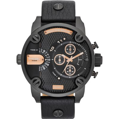 Diesel Little Daddy Herenchronograaf Zwart DZ7291