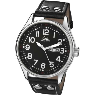 Limit Pilot Herrenuhr in Schwarz 5491.01