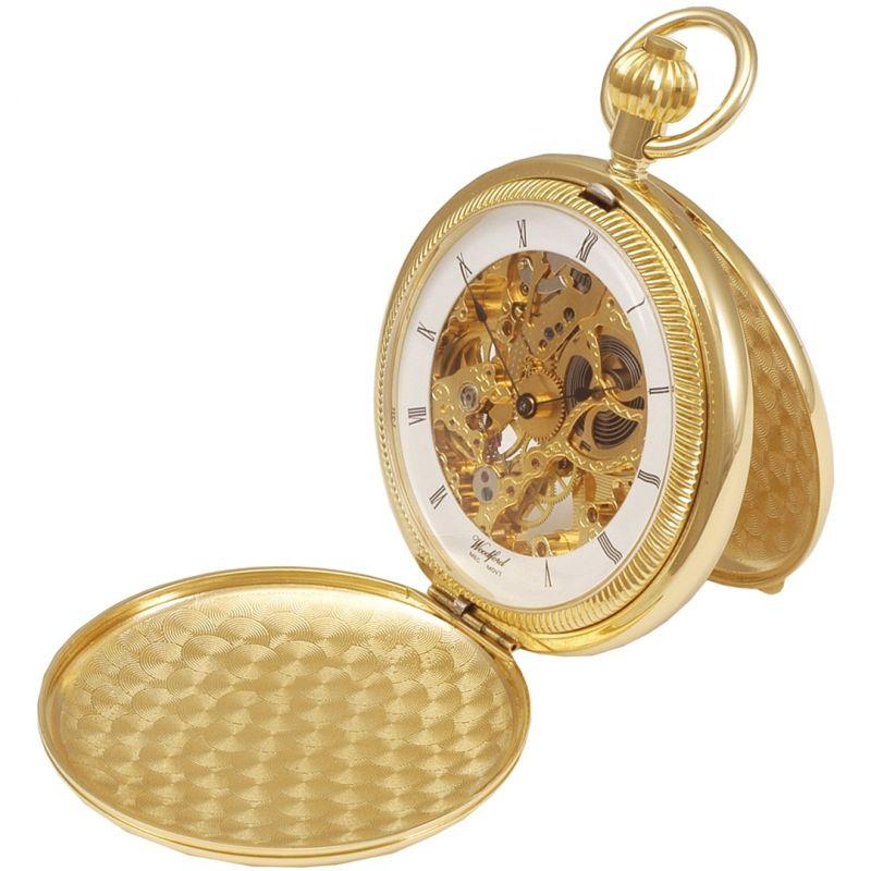 Woodford Full Hunter Skeleton Pocket Mechanical Watch