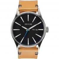 Mens Nixon The Sentry Leather Watch
