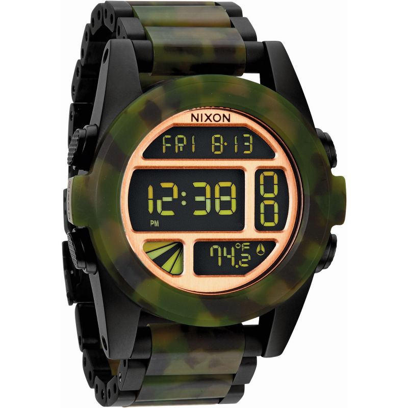 Mens Nixon The Unit Ss Alarm Chronograph Watch