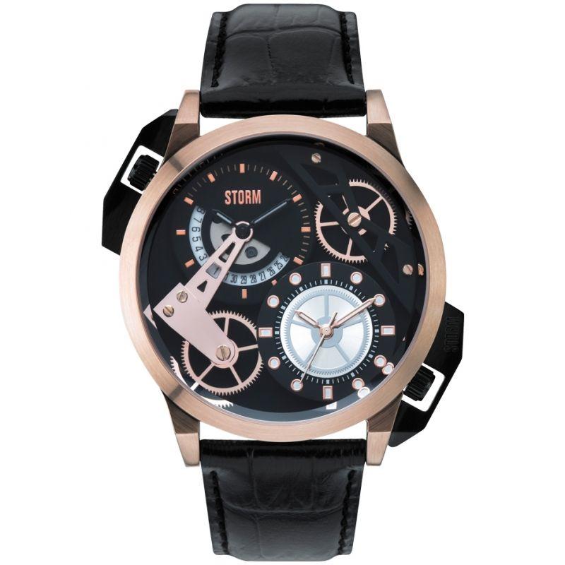 Mens Storm Dualon Leather Watch