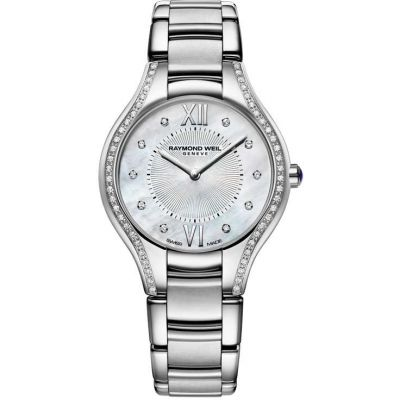 Ladies Raymond Weil Noemia 32mm Diamond Watch 5132-STS-00985