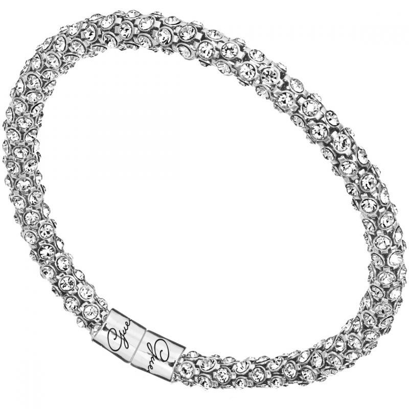 Ladies Guess Glamazon Silver Bracelet UBB81332