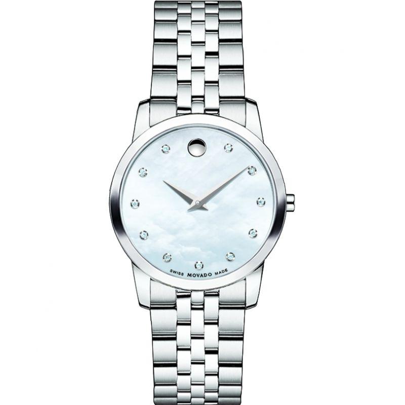 Ladies Movado Museum Classic Diamond Watch
