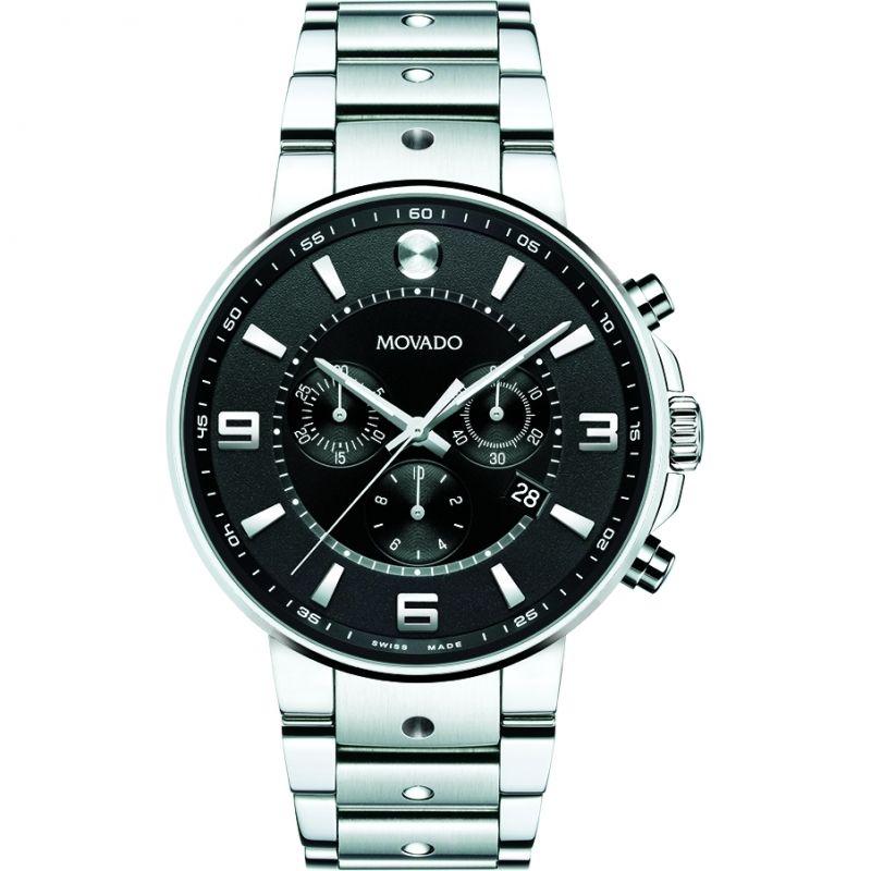 Mens Movado SE Pilot Chronograph Watch