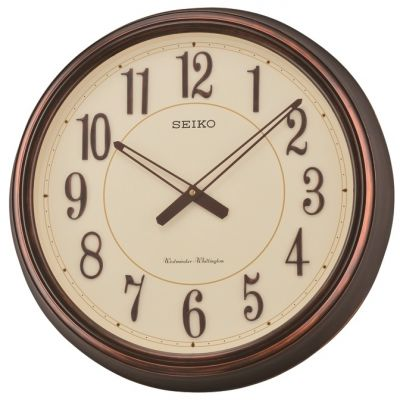 Seiko Clocks Chiming Wooden Wall Clock QXD212B