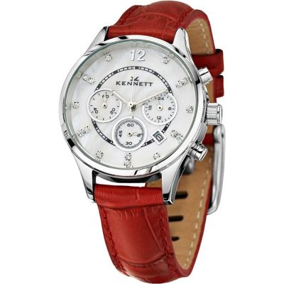 Ladies Kennett Lady Savro Chronograph Watch LWSAVWHSILRD