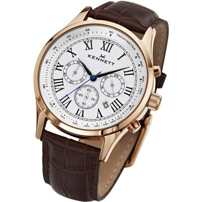 Mens Kennett Savro Chronograph Watch WSAVGOLWHBR